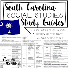 sc social studies study guides ginger snaps treats for teachers