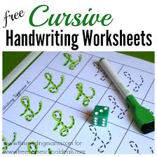 free cursive handwriting worksheets instant download free