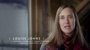 actress in subaru commercial 2016 crosstrek subaru tv commercial national geographic louise johns ispot tv