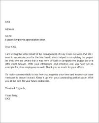 exles of letters appreciation letter employee sle easy