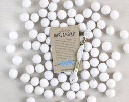 felt pom poms swan lake white felt balls wool felt
