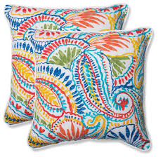 ummi multi 18 5 throw pillow set of 2 tropical outdoor