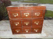 Vintage Industrial File Cabinet Wooden Antique File Cabinets Ebay