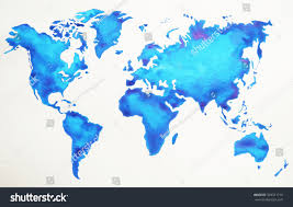 Watercolor Map Of The World by World Map Hand Drawing Watercolor Painting Stock Illustration