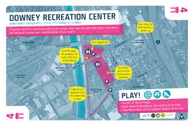 louisiana state map key downtown 4 downey recreation center play the la river