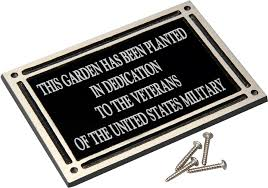 outdoor memorial plaques and gold outdoor cast aluminum sign