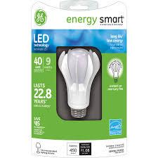 ge led light bulbs shop ge 40 watt equivalent indoor bright white led light bulb