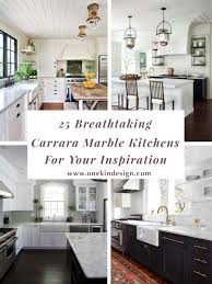 Kitchen Charleston Antique White Kitchen Cabinet Featuring Gray 25 Breathtaking Carrara Marble Kitchens For Your Inspiration