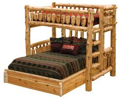Log Bed Pictures by Cedar Log Single Loft Bed