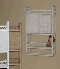 Bathroom Wicker Furniture Wicker Medicine Cabinet In White And Honey Color I Could