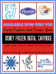 cricut explore exclusive disney frozen digital cartridge