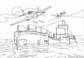 coloring page british invincible aircraft carrier
