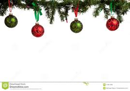 ornament baubles hanging from garland stock photo