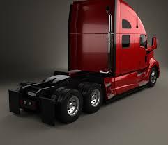 2017 kenworth t700 kenworth t700 tractor truck 3 axle 2010 3d model hum3d