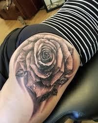 dark rose tattoo by justyna justynakurzelowska darkrosetattoo