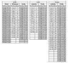measurement tables shoes com free shipping u0026 exchanges