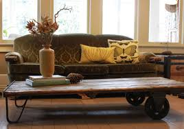 coffee table made from warehouse cart hammer like a girlhammer