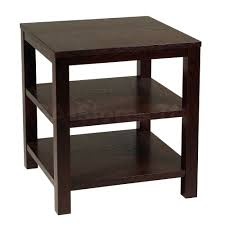 furniture black wood small accent coffee table metal antique