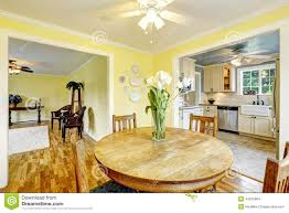 bright yellow dining room stock photo image 44230084