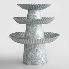 galvanized cake stand world market