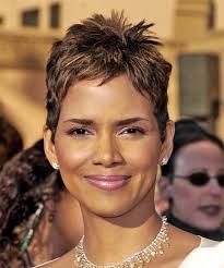 back view of halle berry hair halle berry short straight casual hairstyle chocolate
