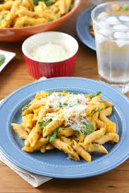 Kitchen Dinner Ideas Creamy Butternut Penne With Spinach And Parmesan A Kitchen Addiction