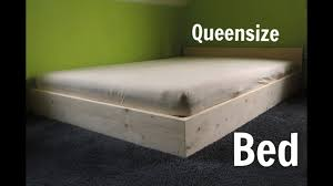 diy queensize bed youtube