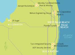 Map Of Palm Beach Florida by Map Of Corporate Headquarters In The Region U2013 Flagler Financial