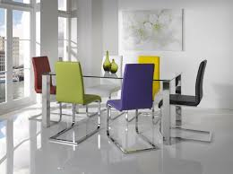 Modern Glass Kitchen Tables by Create Modern Dining Room With Glass Dining Table