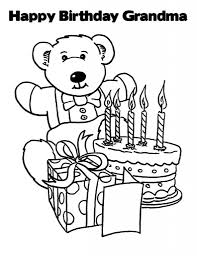 happy birthday grandma coloring page happy birthday coloring pages
