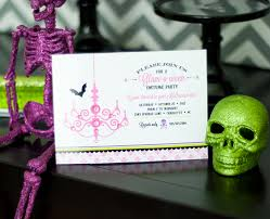 custom halloween invitations new to the shop glam o ween halloween collection u0026 invitation