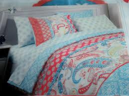 Sheet Sets Twin Xl Cynthia Rowley Bedding Cynthia Rowley Coral Aqua Blue U0026 White