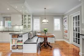 kitchen booth seating dining room traditional with banquette