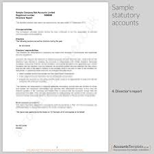 company report format template a guide to the statutory accounts format accounts template