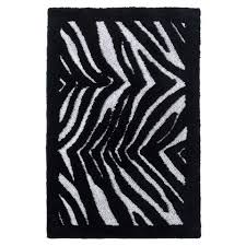 Zebra Bath Rug Zebra Bath Rug Black Or White 21x34inches Square Lines Grey And