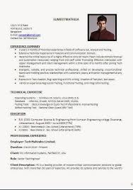 Testing Resume Sample For 2 Years Experience by Cv Sample Pdf