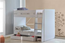 Ft  Small Single White Royal Bunk Beds With Large Storage Drawer - Large bunk beds