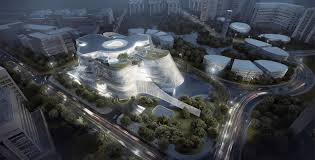 solar powered xinhee design center is inspired by human skin and