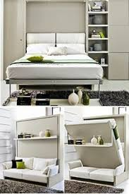 Wall Bed Sofa by This Free Standing Murphy Bed Unit Provides Seating Room Division