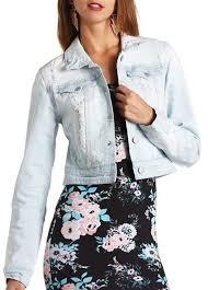 Light Jean Jacket Charlotte Russe Light Wash Destroyed Denim Jacket Where To Buy