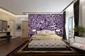 mural leopard texture in purple and black