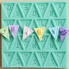 Baking And Cake Decorating Letter Flag Bunting Silicone Fondant Mold Cake Decorating
