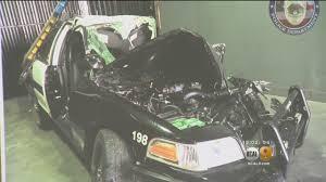 man driving stolen police cruiser dies in crash on the 110 freeway