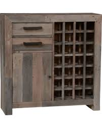 distressed wood bar cabinet new savings on oscar reclaimed wood wine cabinet by kosas home