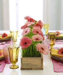 create a floral table runner real simple
