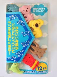 animal hug food picks x12 japanese bento lunch box accessories