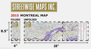 Map Montreal Canada by Streetwise Montreal Map Laminated City Center Street Map Of
