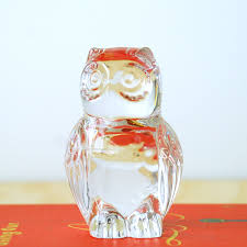 Etsy Vintage Home Decor by Crystal Owl Statue Retro Home Decor 80 U0027s Lead Crystal Home