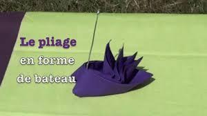 Pliage Serviette Noeud Pliage De Serviette En Forme De Bateau Voilier Stylisé Vidéo