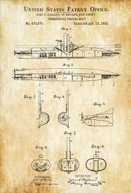 Nautical Decor Submarine Patent Print Vintage Submarine Submarine Blueprint